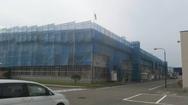 辰野町 工場外部足場-1