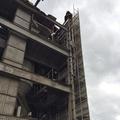 駒ヶ根市 セメントプラント解体養生足場工事-1