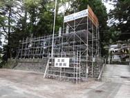 駒ヶ根市 大宮五十鈴神社祭典 三国打上げ場