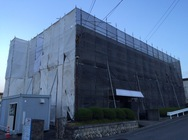 伊那市 アパート外壁改修工事用足場