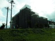 伊那市 工場増築外部足場-2