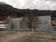 木曽町 木曽福島会館解体足場工事