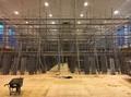 飯島町 七久保小学校体育館内部ステージ足場工事