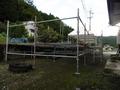 信州駒ヶ根ハーフマラソン給水所 ステージ足場工事