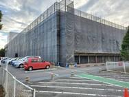 飯田市 ショッピングセンター外部足場工事