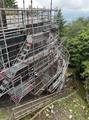 新太田切水力発電所 外部足場工事