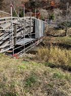 木曽町 栃ノ木橋解体足場工事
