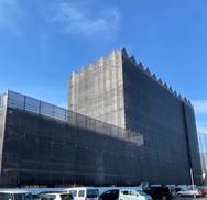 松本市 Dマンション外部足場工事